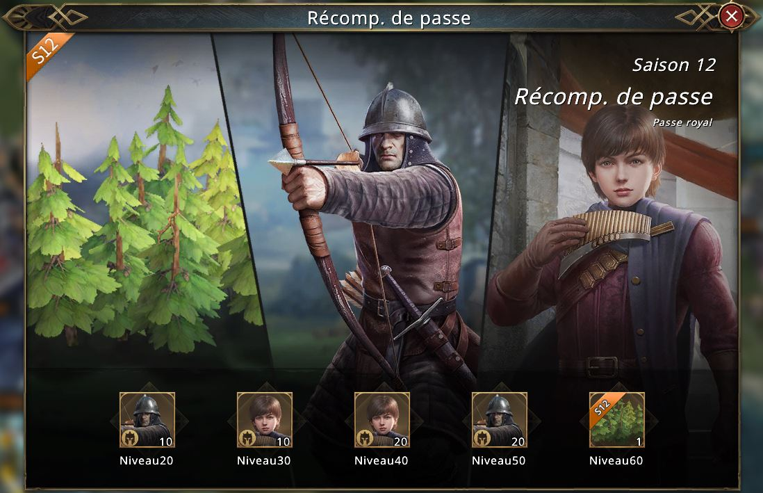 Récompenses Passe Westeros saison 12