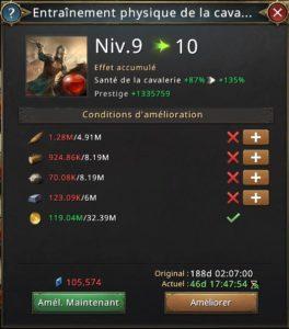 Rechercher entraînement physique de la cavalerie