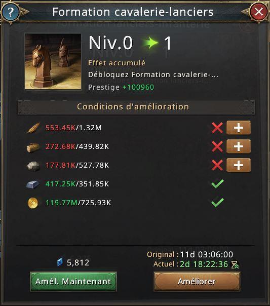 Formation lanciers-infanterie
