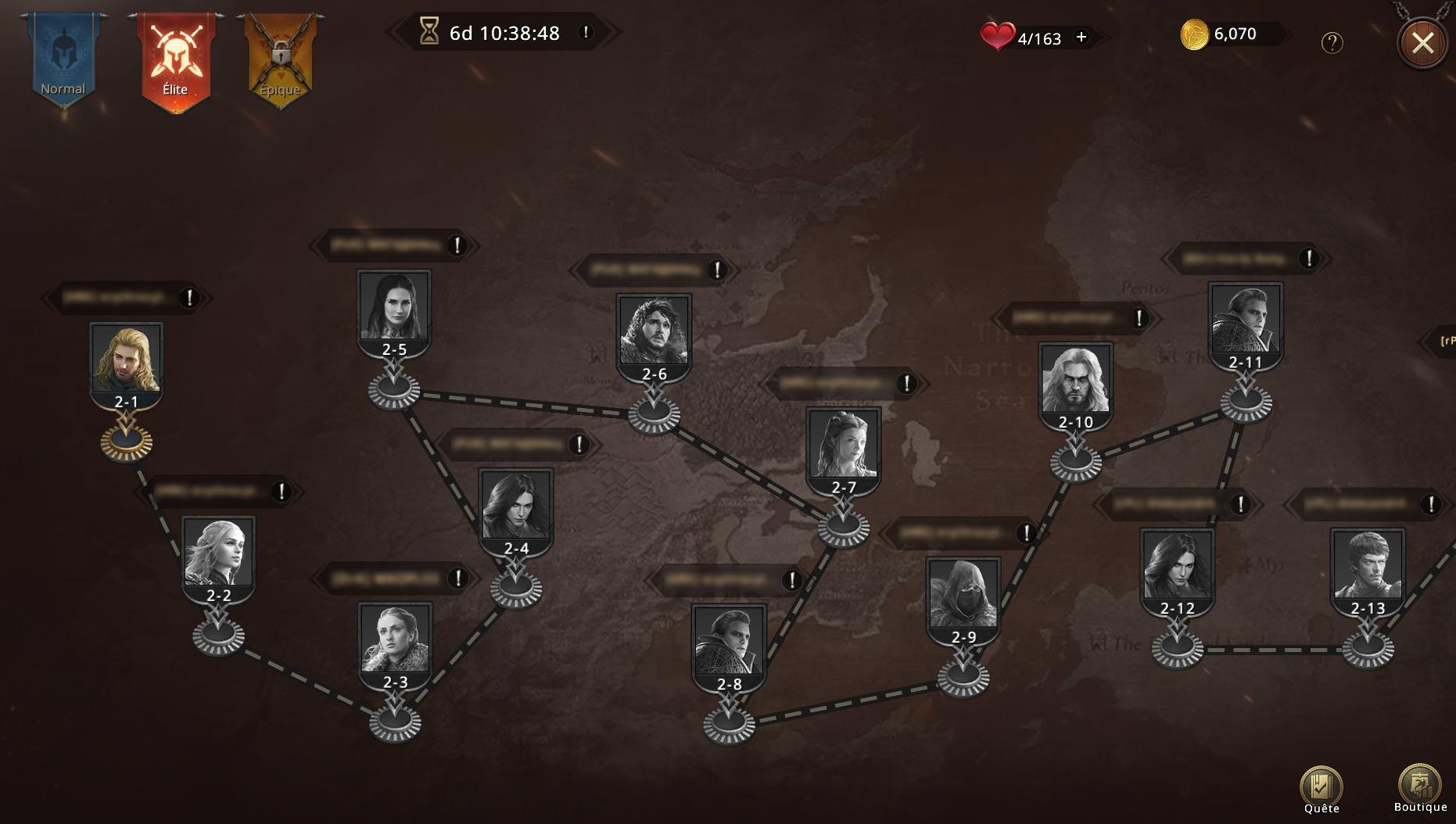 Map du niveau élite