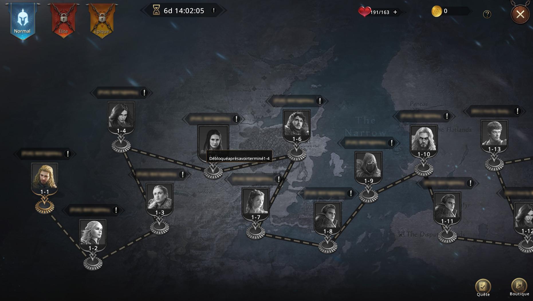 Map du niveau normal