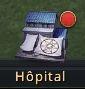 Point rouge sur l'hôpital