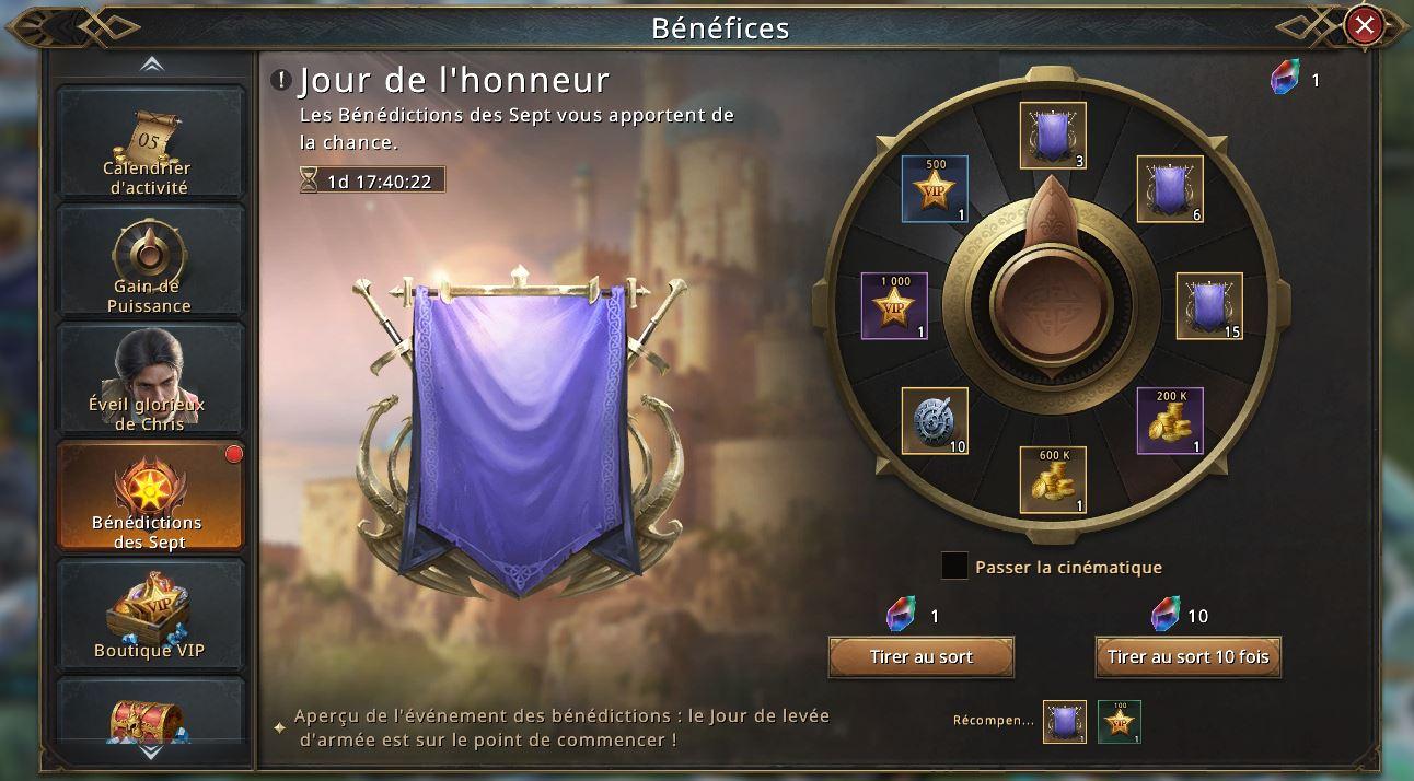 Loterie Jour de l'Honneur