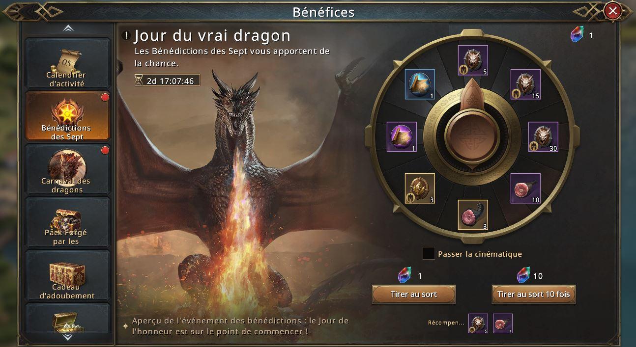 Loterie Jour du Vrai Dragon