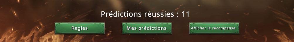 Compteur de prédictions réussies