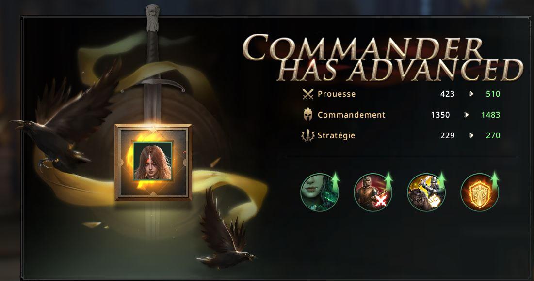 Commandant Uma cadre vert