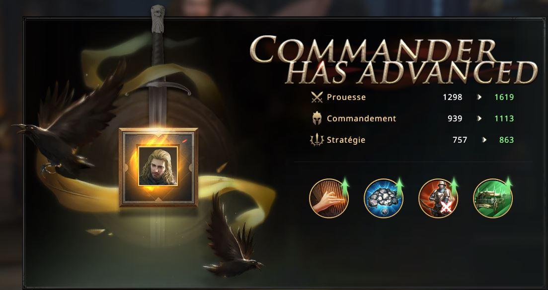 Commandant O'Biehn cadre or
