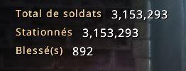 Effectif de soldats