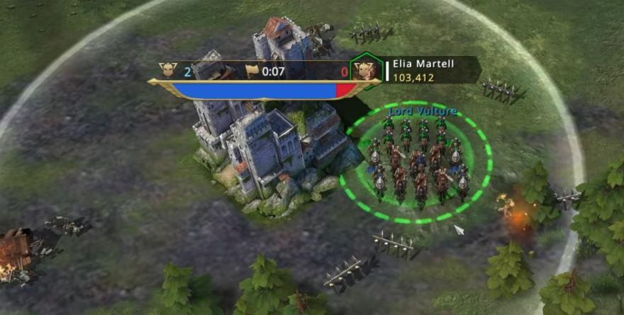 Rassemblement des troupes dans la zone d'influence du bâtiment