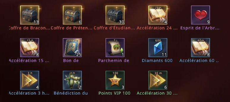 Récompenses de mobilisation d'alliance