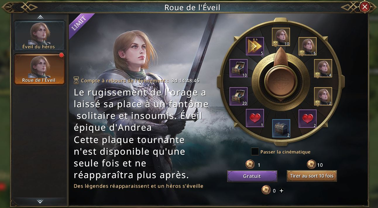 Loterie Roue de l'Eveil