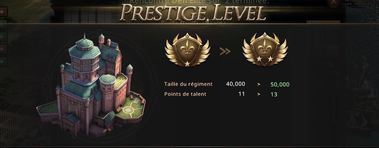 Château niveau de gloire 7