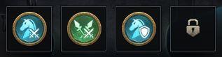 Insignes pour une formation cavalerie-lancier
