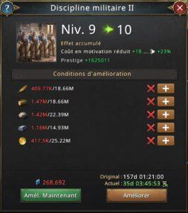 Recherche discipline militaire II vers 10