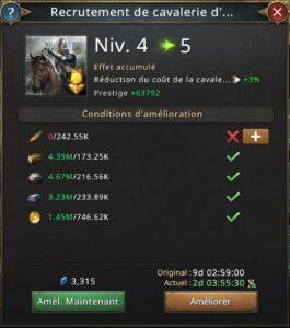 Recherche recrutement cavalerie élite vers 5