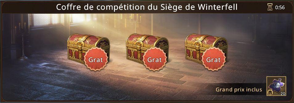 3 coffres de compétition