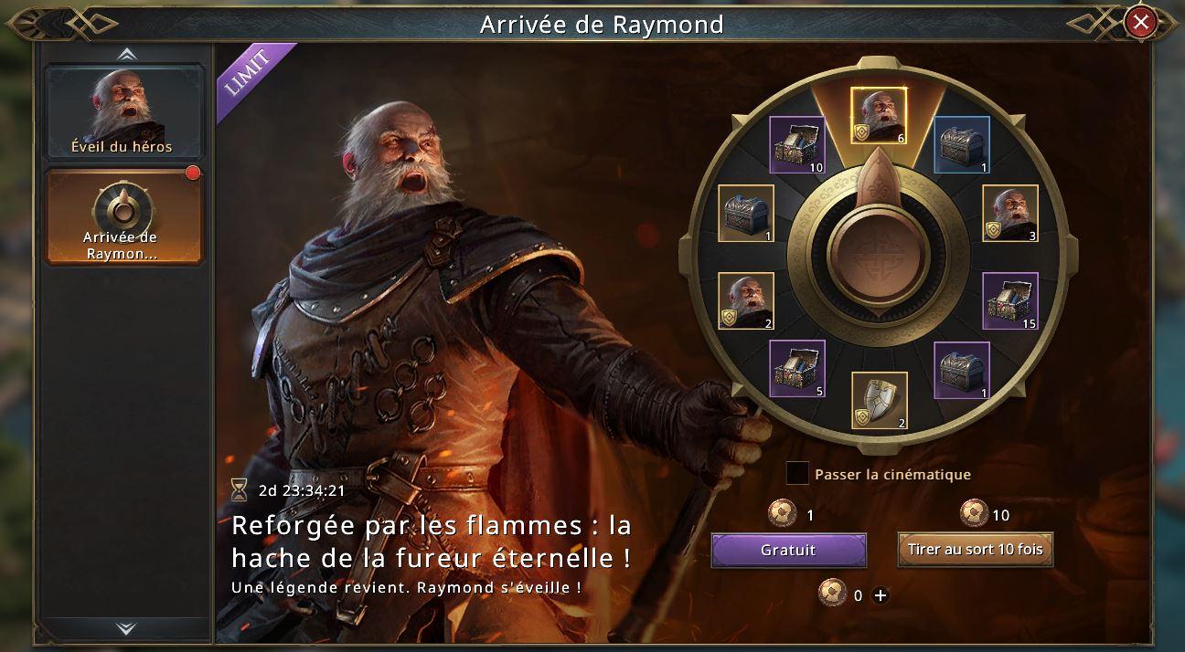 Loterie éveil de Raymond