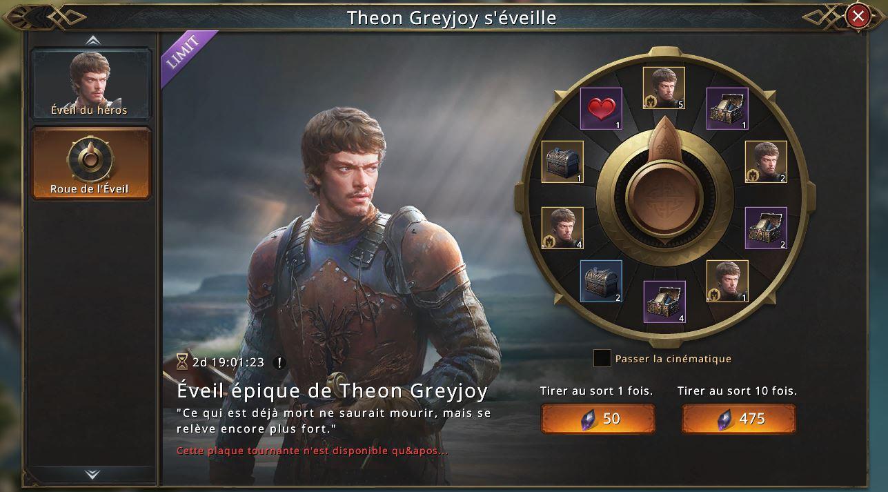Loterie de l'éveil de Theon