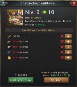 Recherche instructeur militaire vers 10