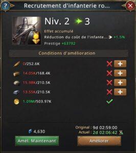 Recherche recrutement d'infanterie royale vers 3