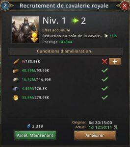 Recherche recrutement de cavaliers royaux vers 2