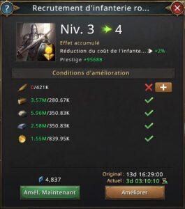 Recherche recrutement d'infanterie royale vers 4