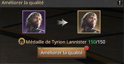 150 médailles de Tyrion