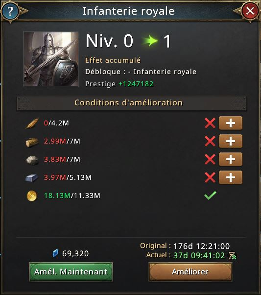 Recherche infanterie royale