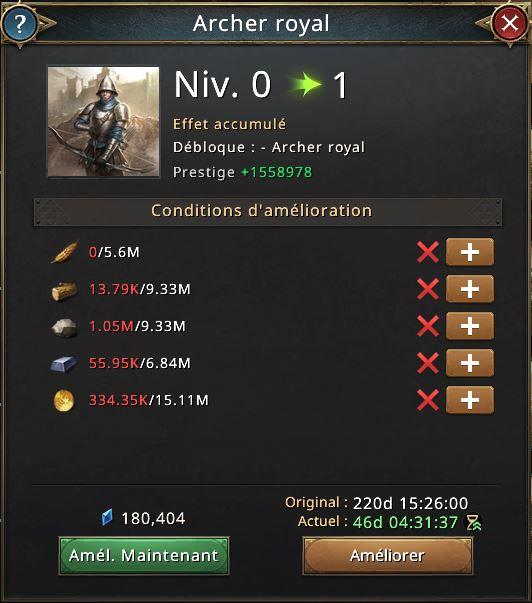 Recherche archer royal