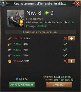 Recherche recrutement d'infanterie élite vers 9