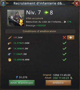 Recherche recrutement d'infanterie élite vers 8