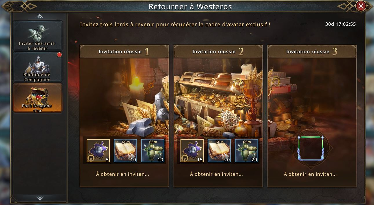 Retour à Westeros - Cadre d'avatar