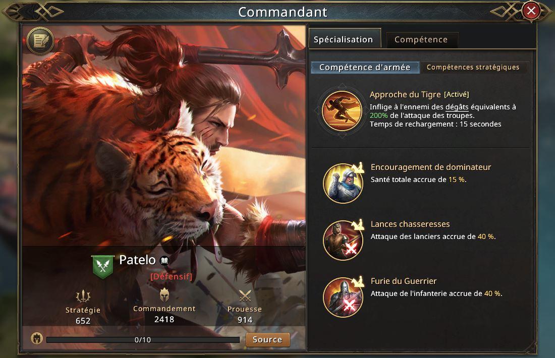 Nouveau commandant Patelo