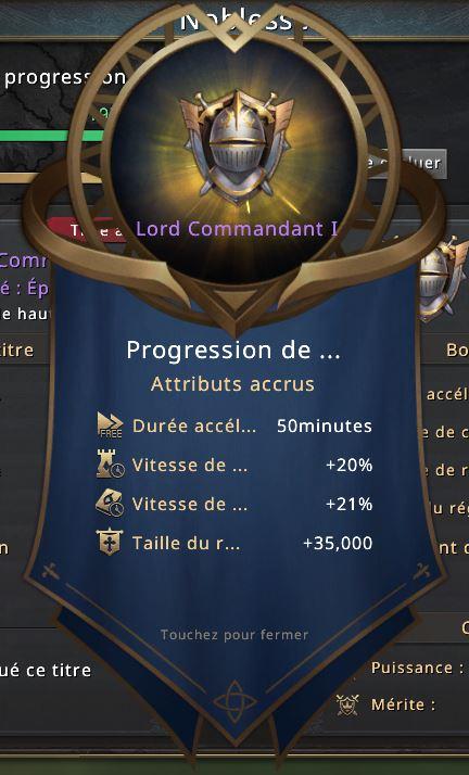 Rang de noblesse Lord Commandant I