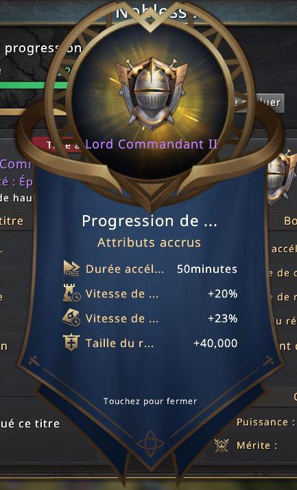Rang de noblesse Lord Commandant II