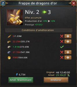 Recherche frappe de dragons d'or vers 3