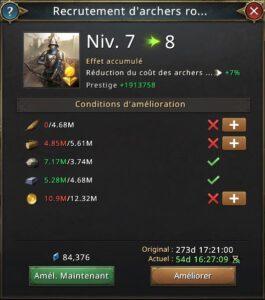 Recherche recrutement archers royaux vers 8