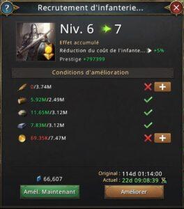 Recherche recrutement infanterie royales vers 7