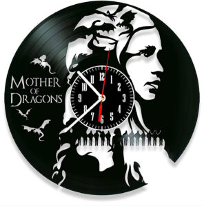 Pendule murale disque vinyl Daenerys