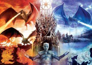 Puzzle fire and ice dragons et roi de la nuit