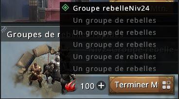 Choix des groupes rebelles