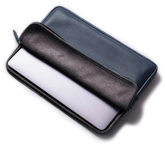 Housse laptop cuir
