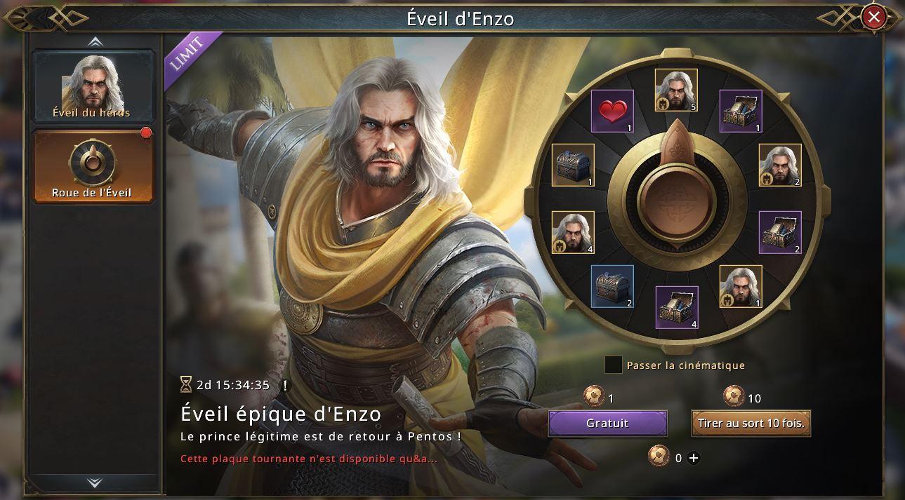 Loterie de l'éveil d'Enzo
