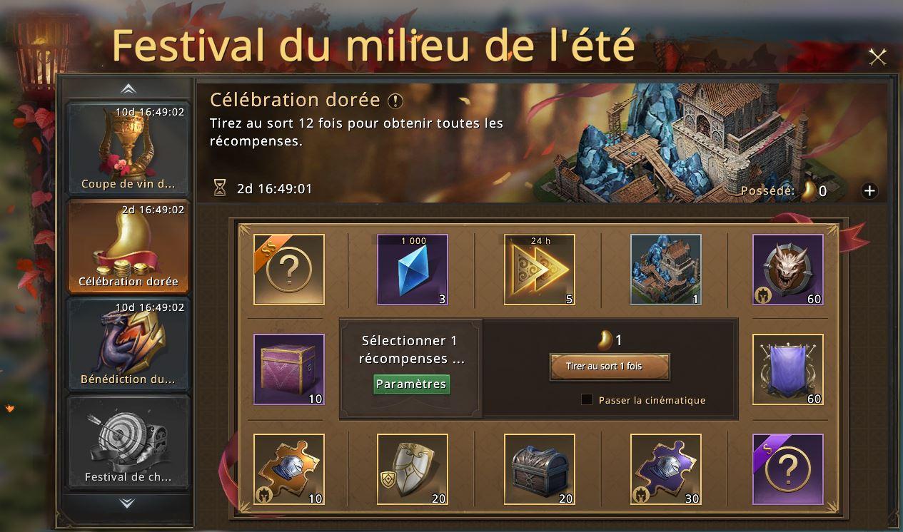 Célébration dorée