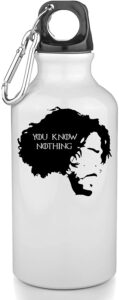 Game of Thrones Bouteille INOX Gourde Sport Camping you know nothing Jon Snow