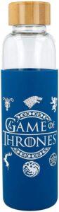 Gourde Game of Thrones en verre avec étui en silicone
