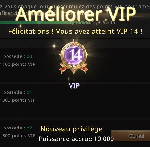 Niveau VIP 14